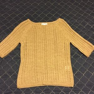 NY&Co Taupe and MetalLic Gold Sparkly Sweater